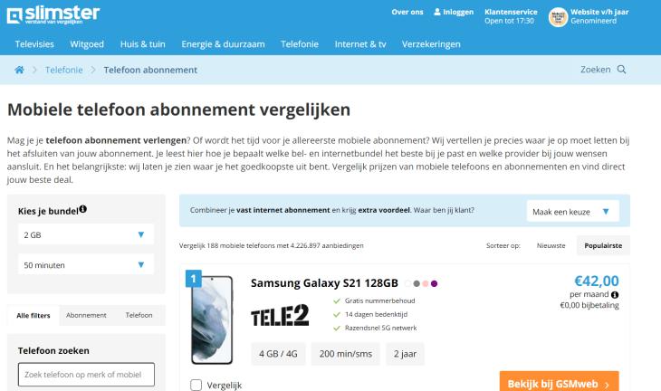 Whitelabel Telecom Vergelijker