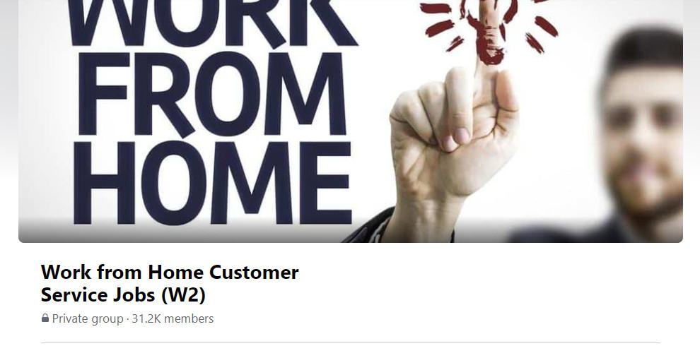 Remote Customer Service Jobs Facebook Group