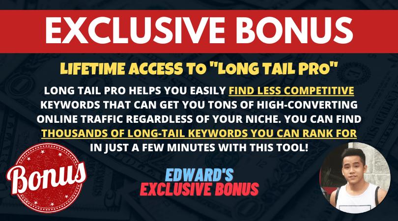 bonus lifetime access to long tail pro