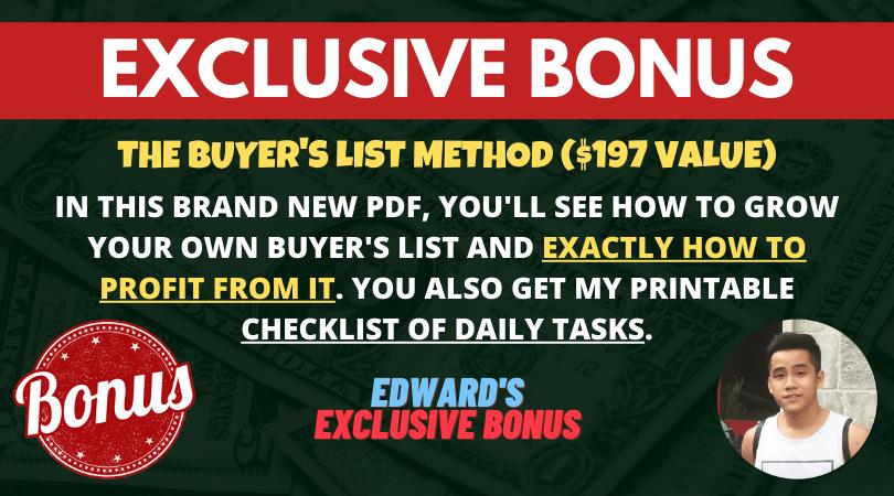 bonus buyers list method