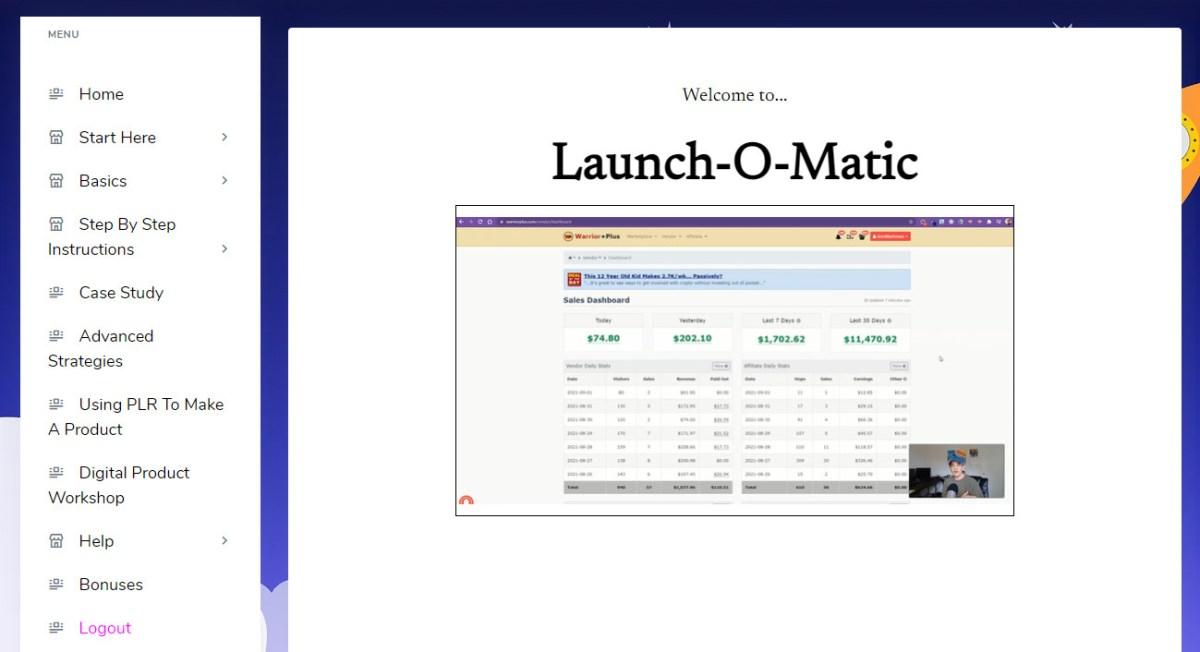 launch-o-matic-main-dashboard-members-area-login