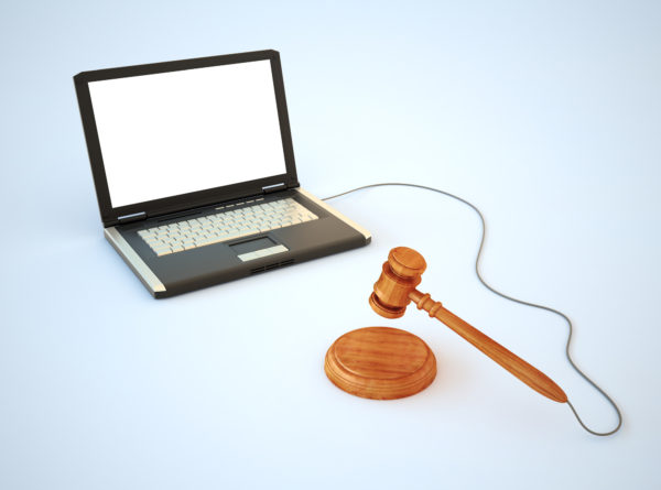 On-line Internet auction biddingconcept illustration