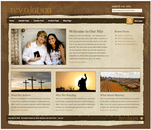 Revolution exclusive WordPress theme