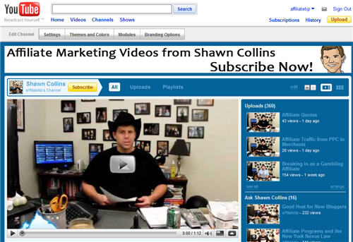 Shawn Collins on YouTube