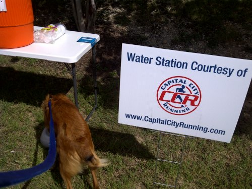 Water station from Capital City Running