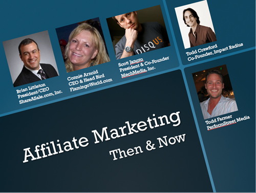 Affiliate marketing now and then