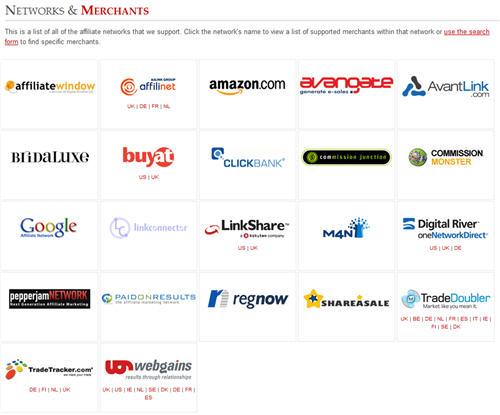 Datafeedr affiliate networks