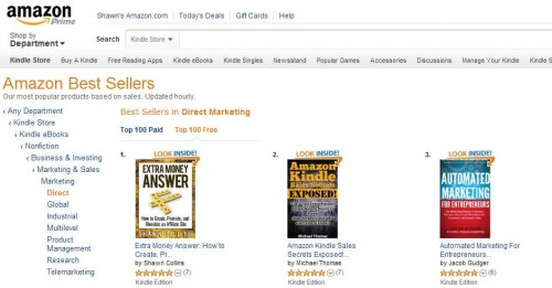 Extra Money Answer was #1 in Direct Marketing on Amazon