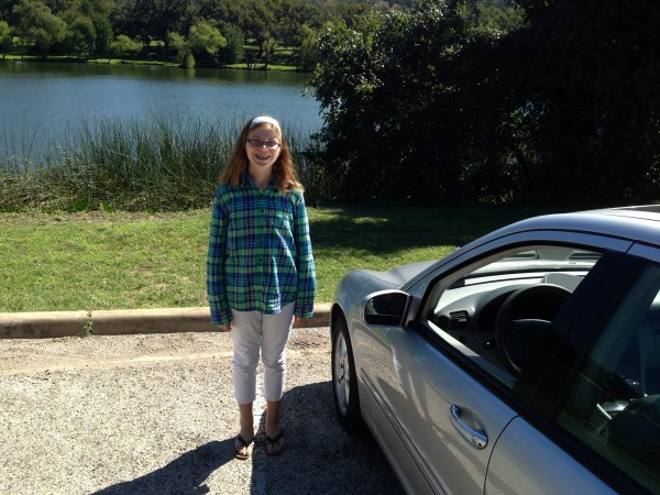 Teaching My Daughter Caity to Drive - October 2013