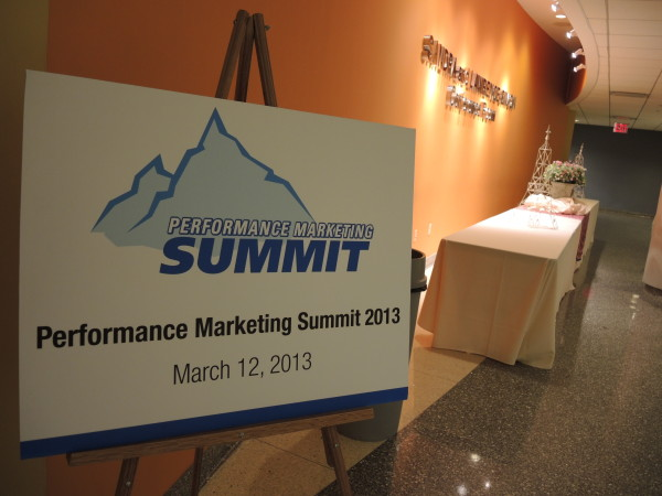 The first Performance Marketing Summit in NYC - March 2013