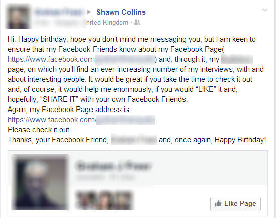 Tacky birthday wish