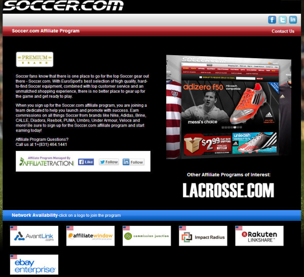 soccer.com affiliate program