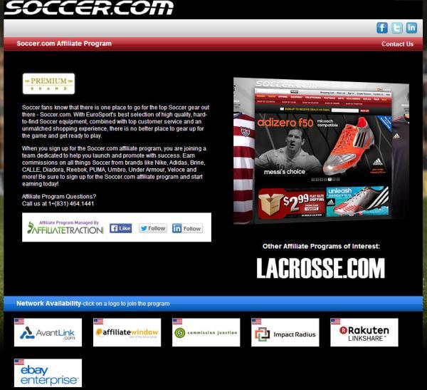 soccer.com affiliate program