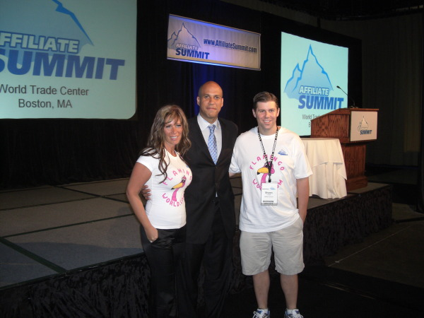 Missy Ward, Cory Booker, and Shawn Collins