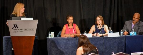 Lisa Picarille, Ceata Lash, Stephanie Lichtenstein, and Patrick Allmond at Affiliate Summit East 2016