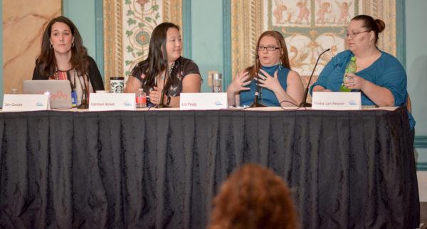 Jen Goode, Carolyn Kmet, Liz Fogg, and Trisha Lyn Fawver at Affiliate Summit West 2017