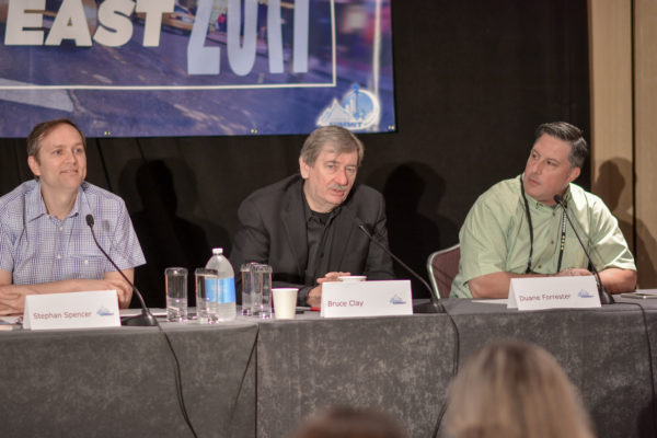Stephan Spencer, Bruce Clay, and Duane Forrester at Affiliate Summit East 2017