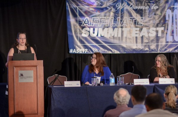 Debbie Bookstaber, Anne Parris, and Kelby Carr at Affiliate Summit East 2017