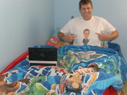 Shawn Collins in Dukeo shirt