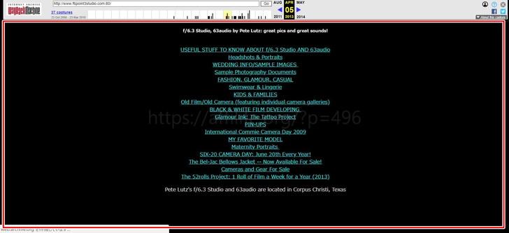 ⇒ Wayback Machine(ウェイバックマシーン)過去のサイト