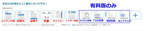 Advanced Ads広告挿入可能場所