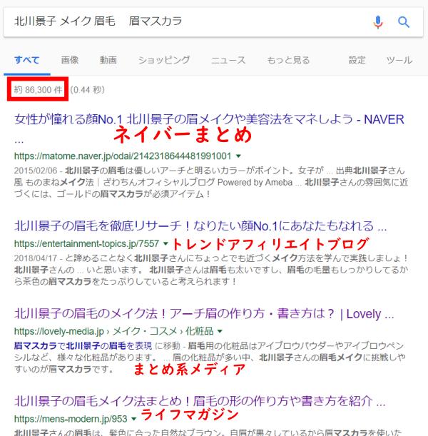 北川景子マユマスカラ
