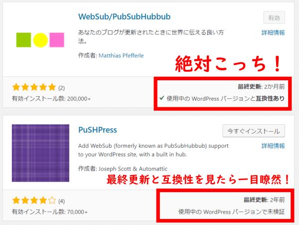 インデックス促進プラグインPubSubHubbub(パブサブハブバブ)とPuSHPress(プッシュプレス)比較