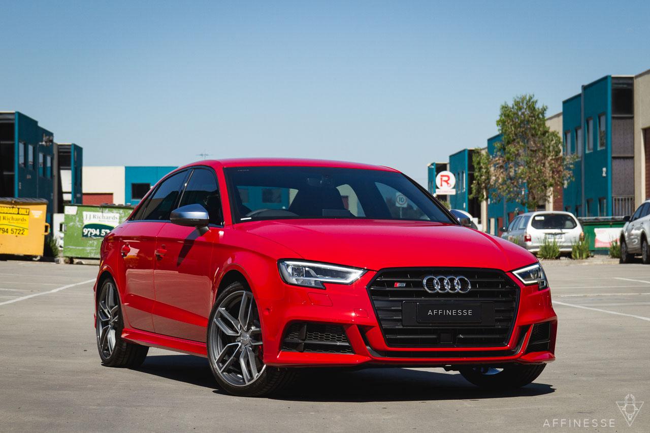 Quick Shot 2017 Audi S3 Tango Red Metallic Affinesse