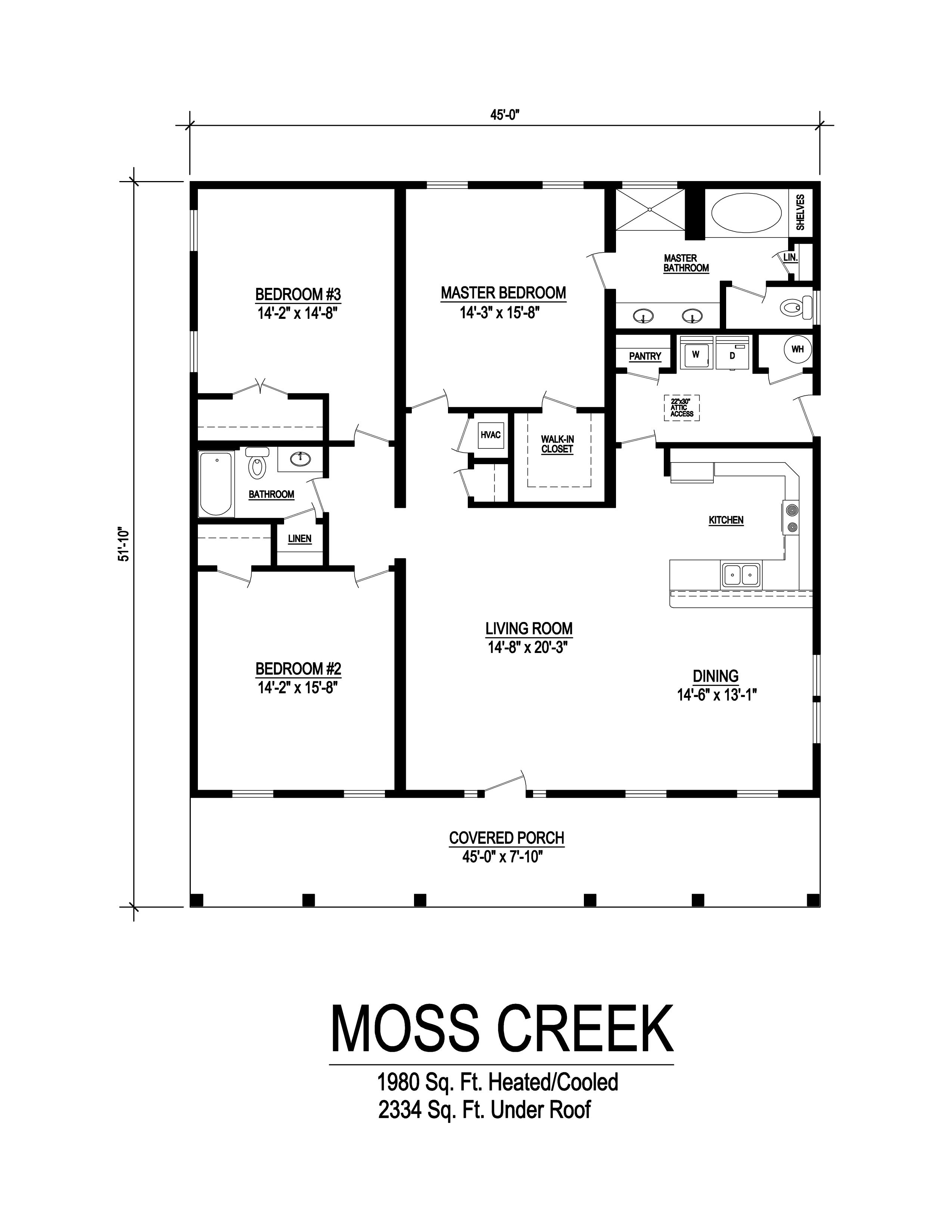 moss creek modular home floorplan