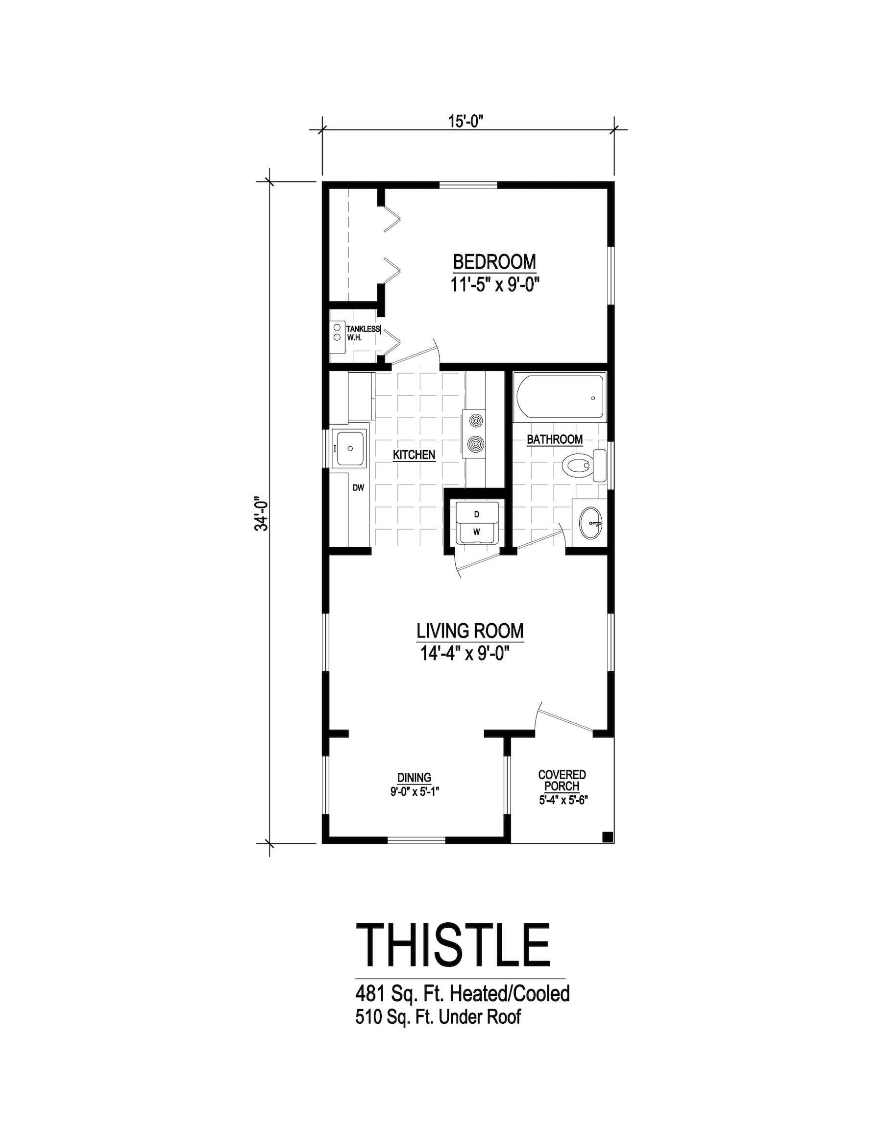 thistle modular home floorplan