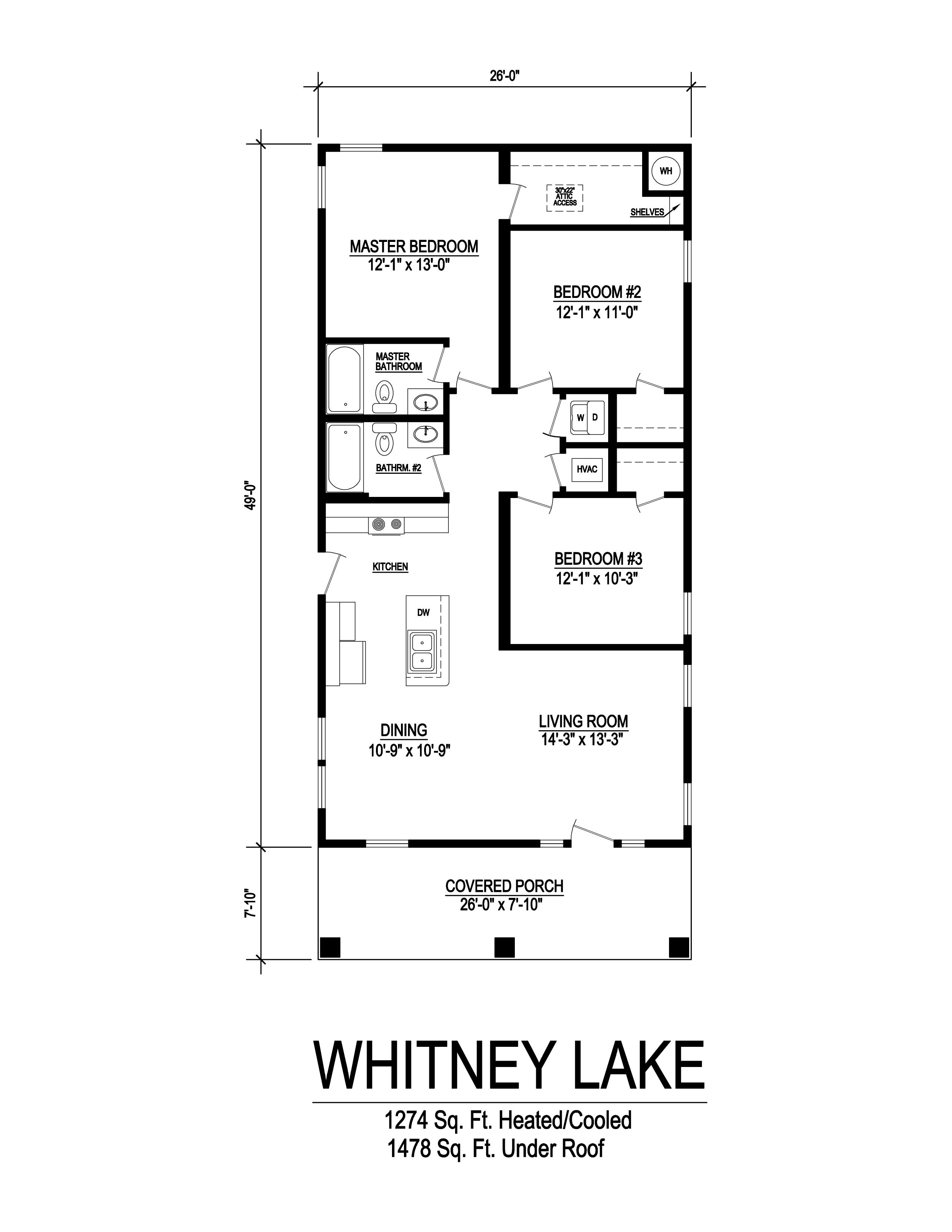 whitney lake modular home floorplan