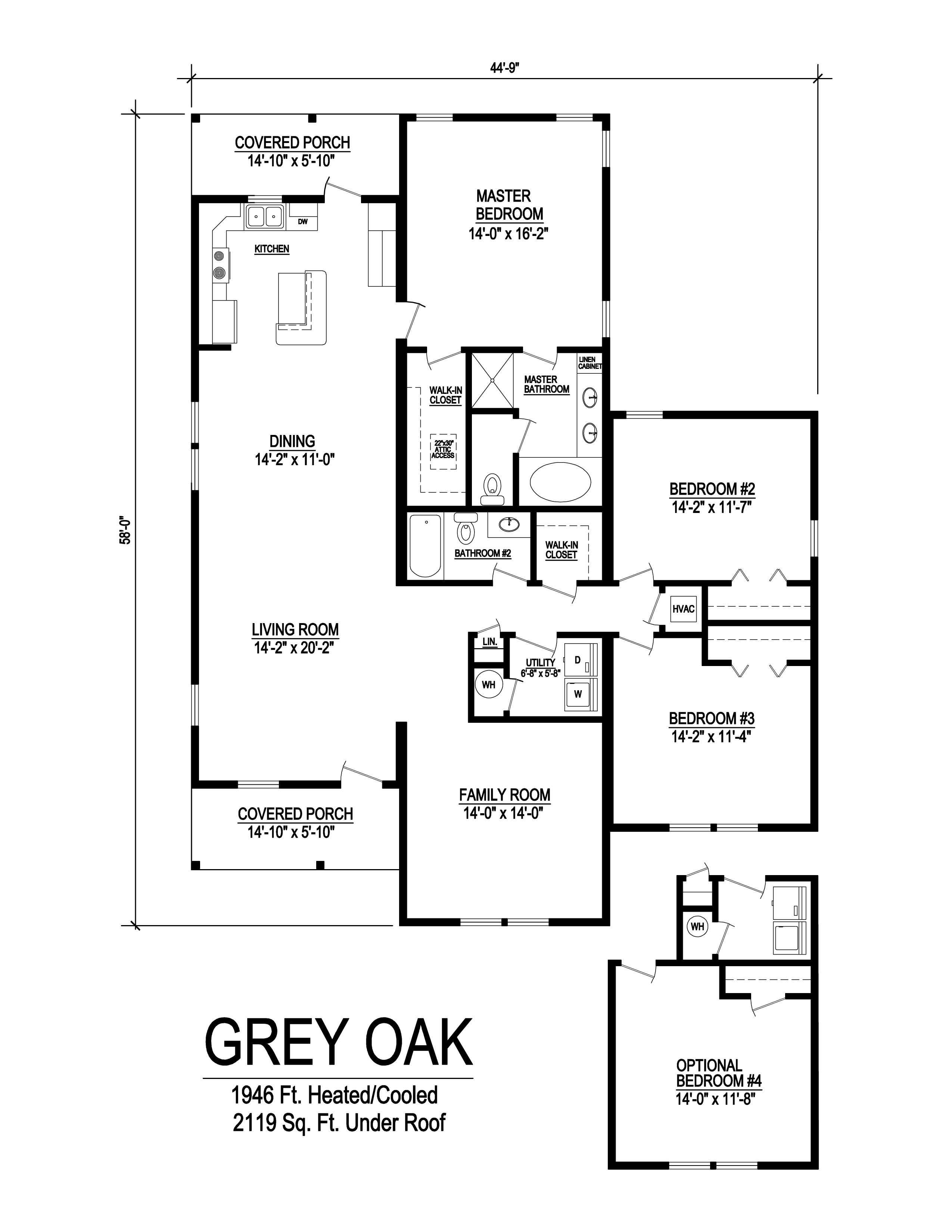 grey oak modular home floorplan