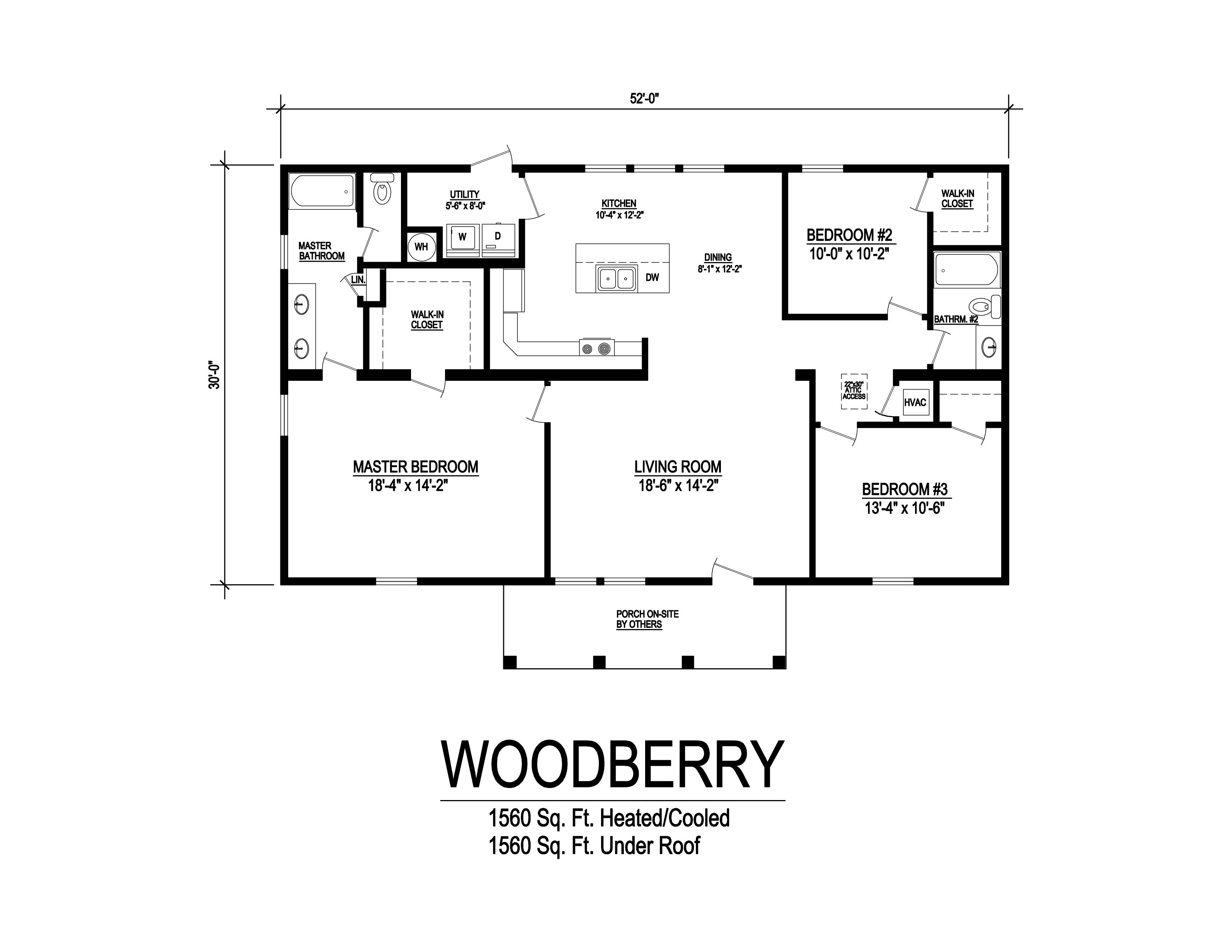 woodberry modular home floorplan