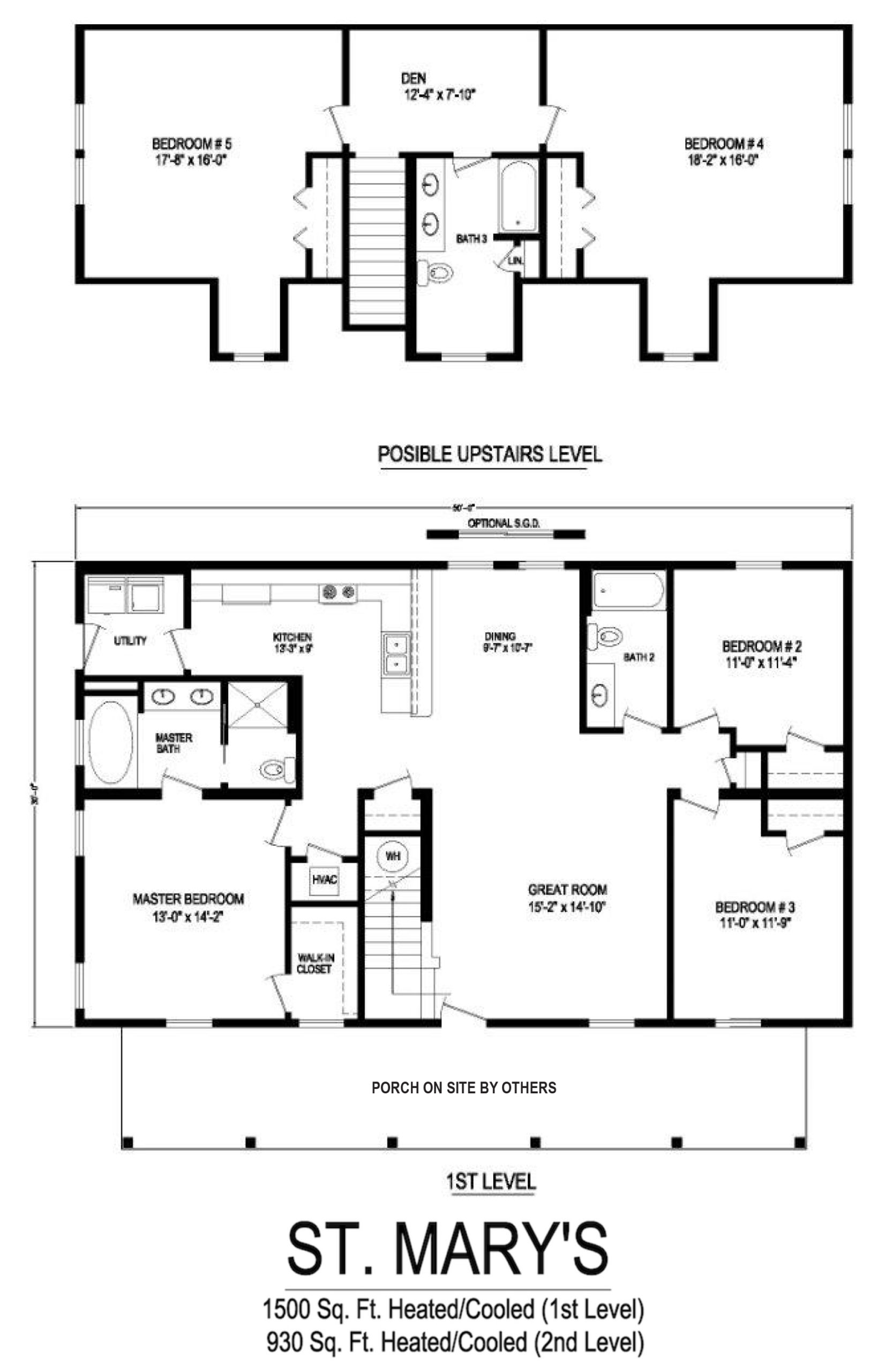 st marys modular home floorplan