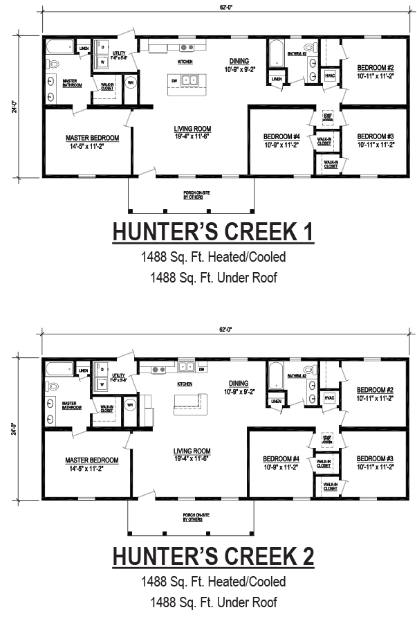 hunters creek modular home floor plan