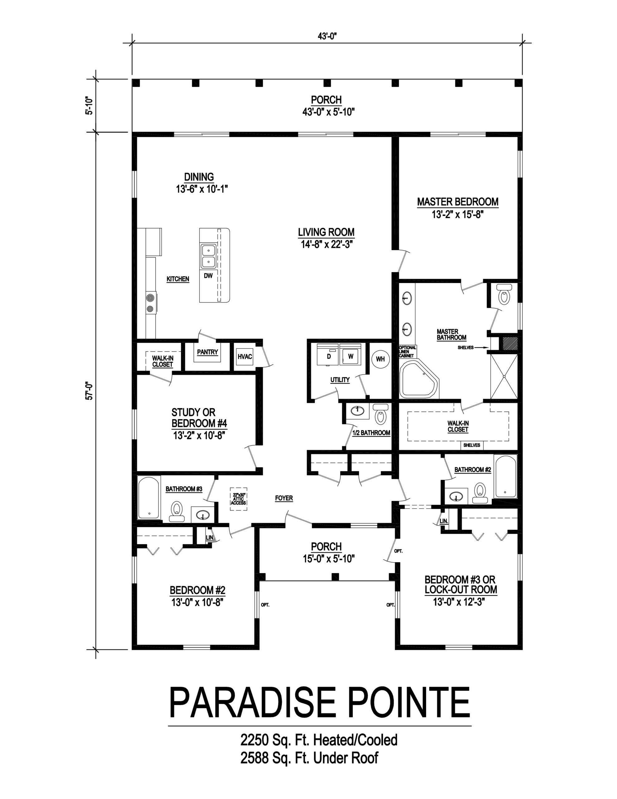 paradise pointe modular home floorplan