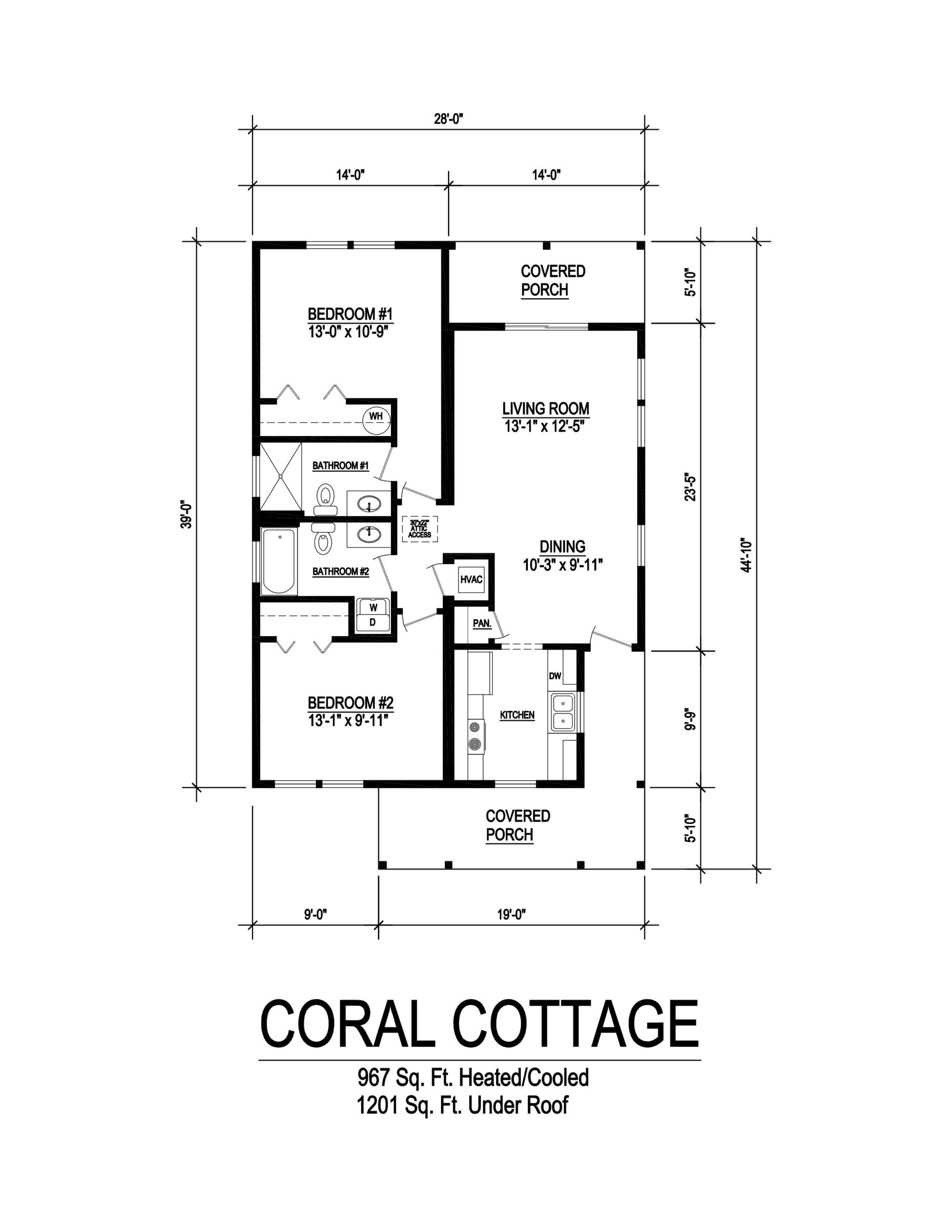 coral cottage modular home floor plan