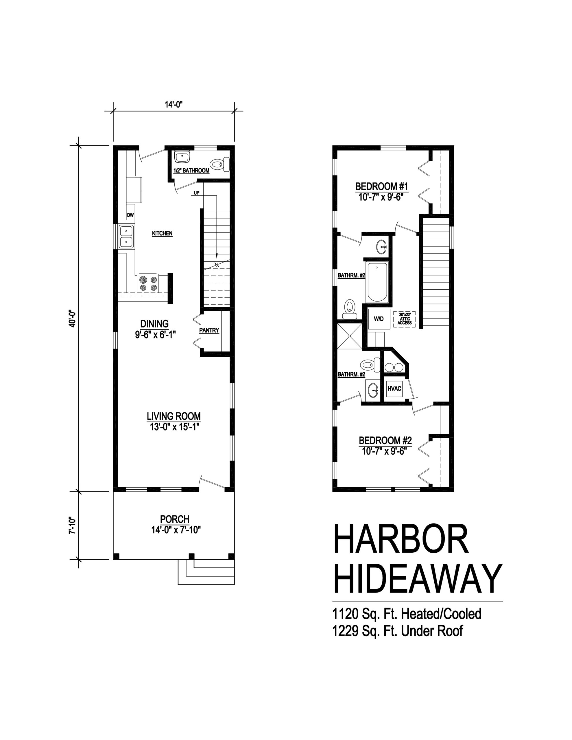 harbor hideaway modular home floorplan