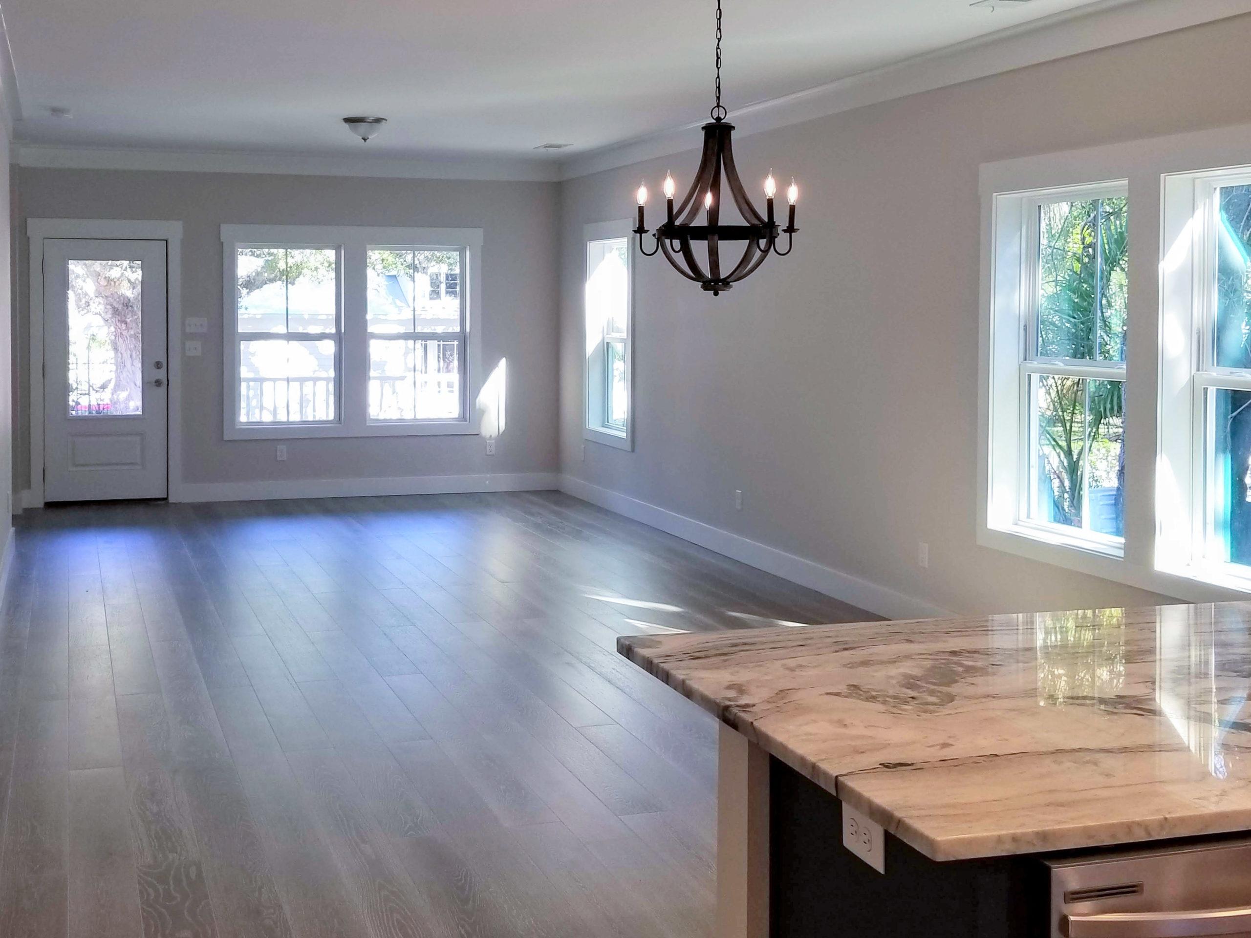 sapelo modular home kitchen living room