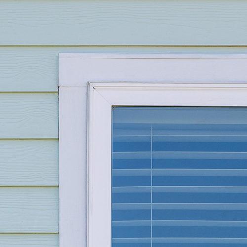 exterior square trim close - square