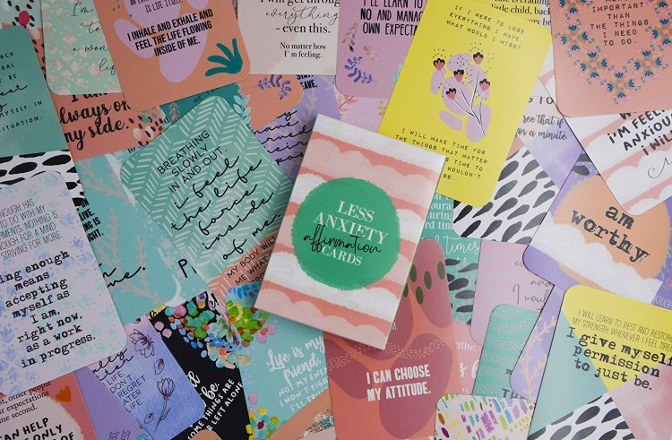 Less Anxiety Affirmation Cards by Sunny Present Store - The Best Affirmation Cards for Anxiety