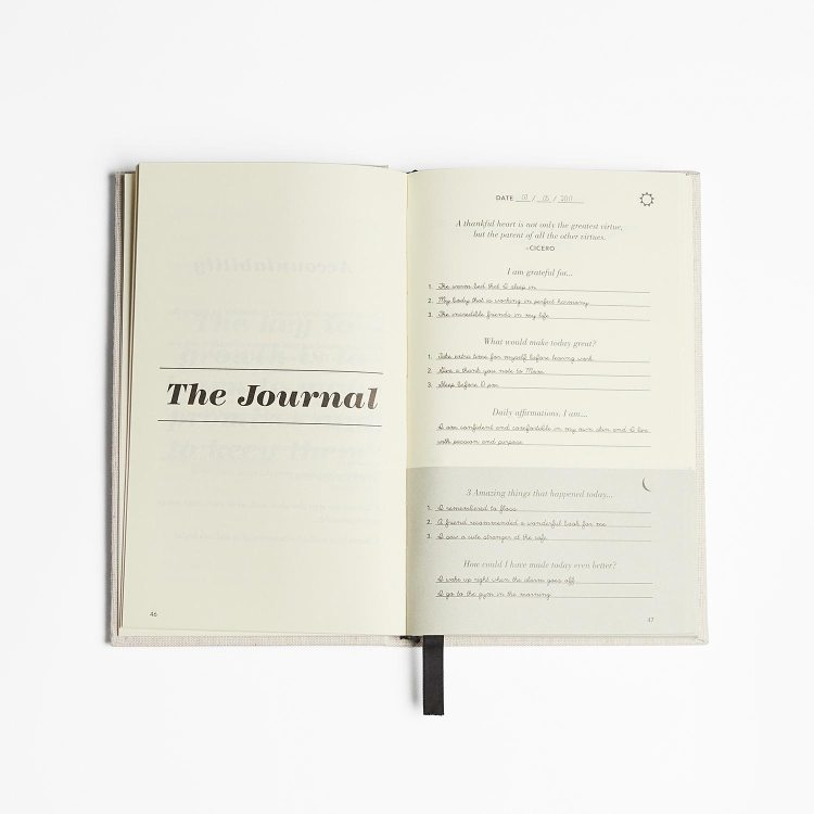 What questions are in the 5 Minute Journal?