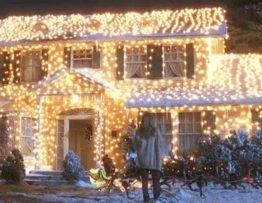 Christmas Lights Home Scene
