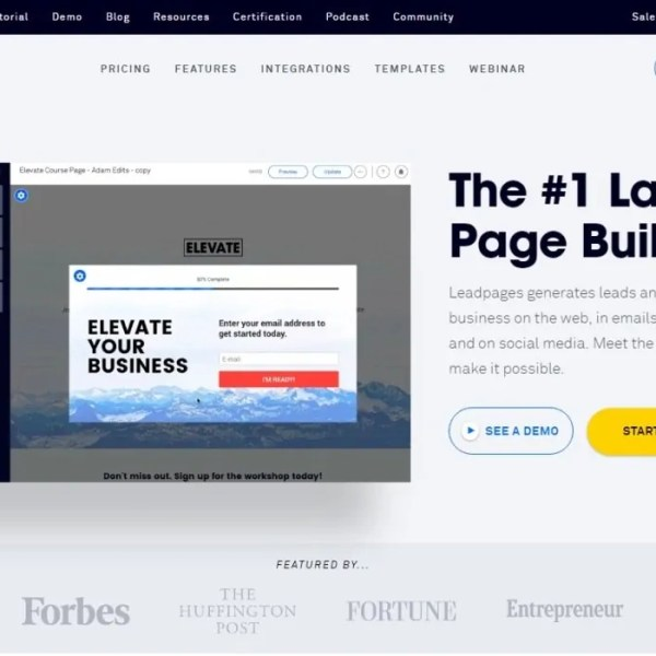 Review Leadpages : The #1 Landing Page Builder