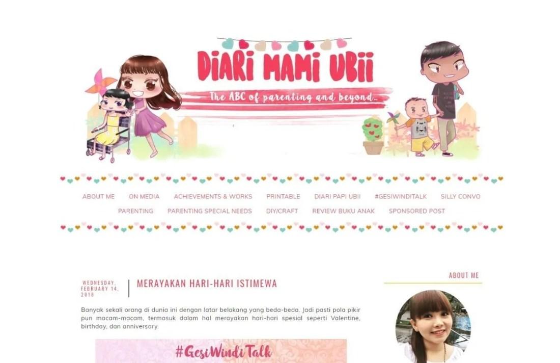 Blogger Perempuan Indonesia Grace Melia Diari Mami Ubiii