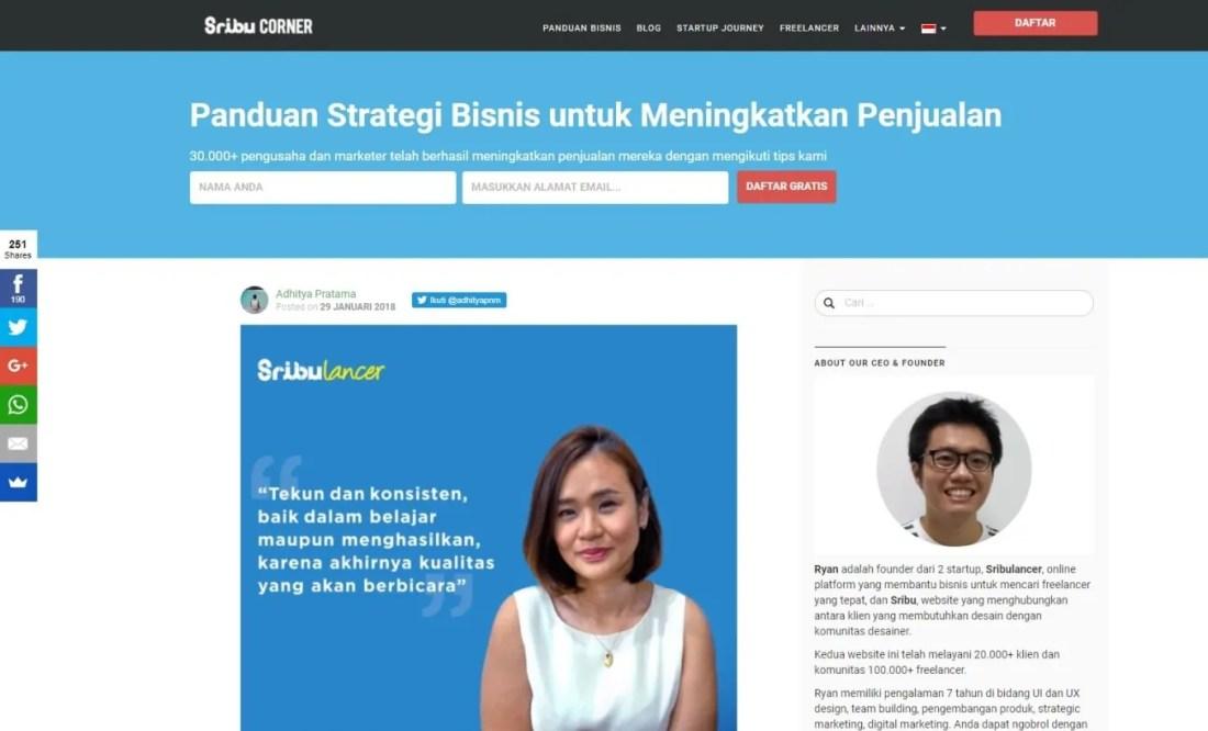 Blog Bisnis Online Blog Sribu Ryan Gondokusumo