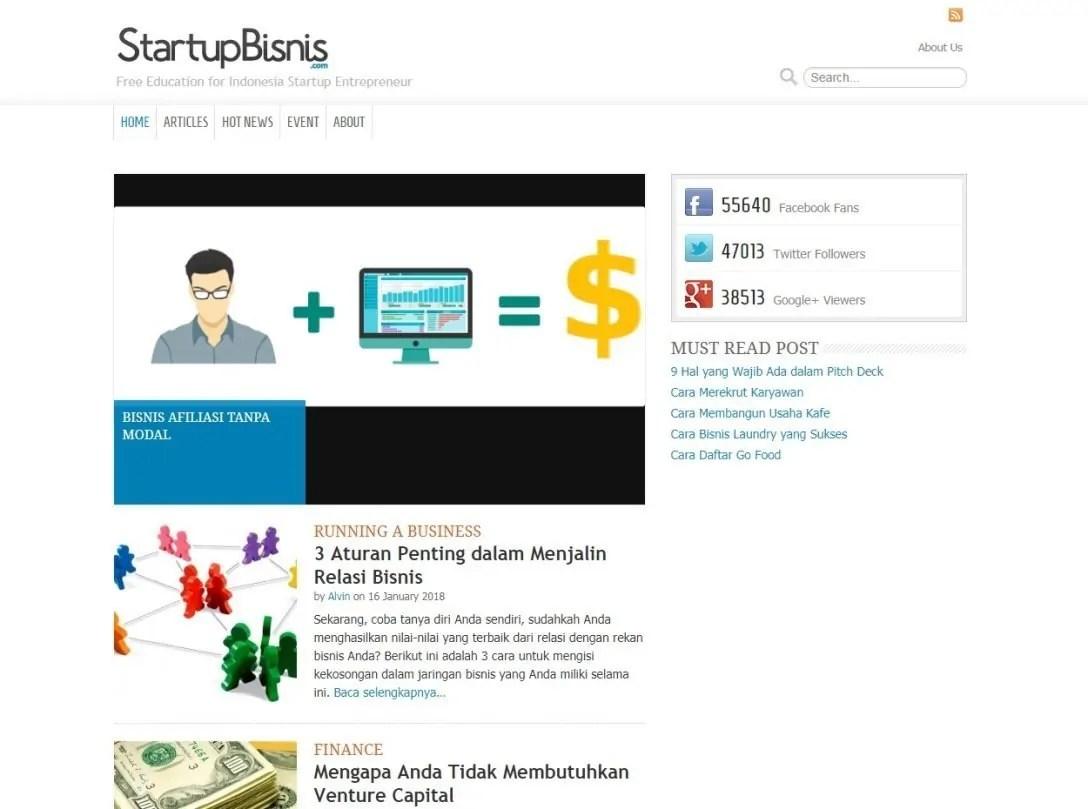 Blog Bisnis Online Strategi Start Up Bisnis by Rhein Mahatma
