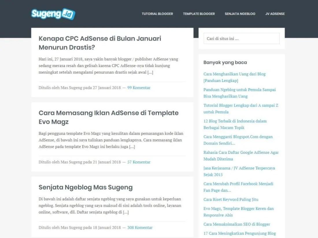 Blog Sugeng.id