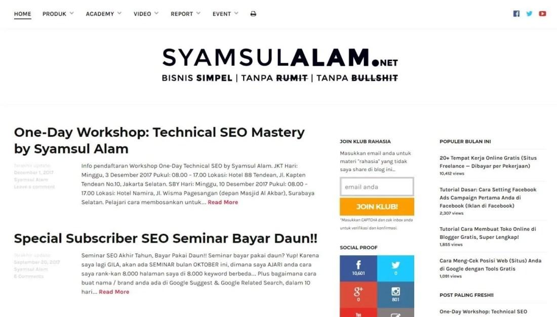 Blog Syamsul Alam