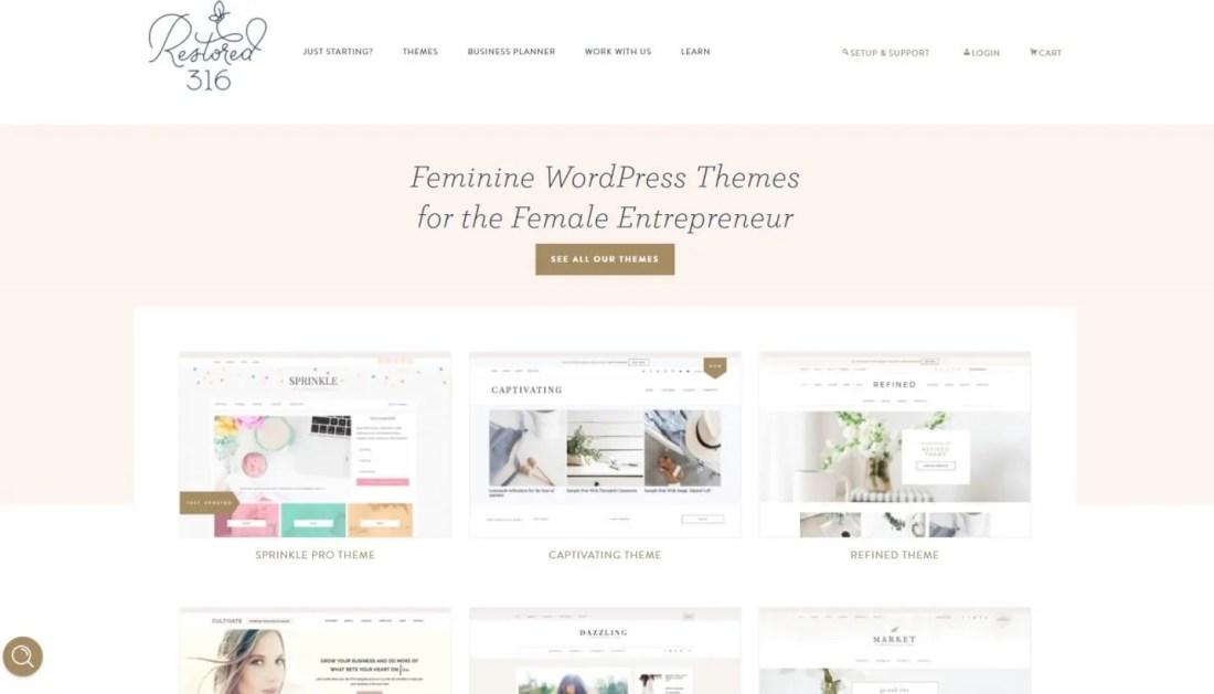 Tempat Beli Themes WordPress Premium Restored 316 Designs